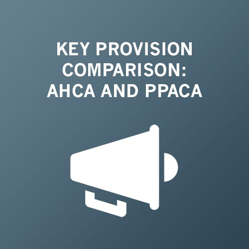 Key Provision Comparison: AHCA and PPACA