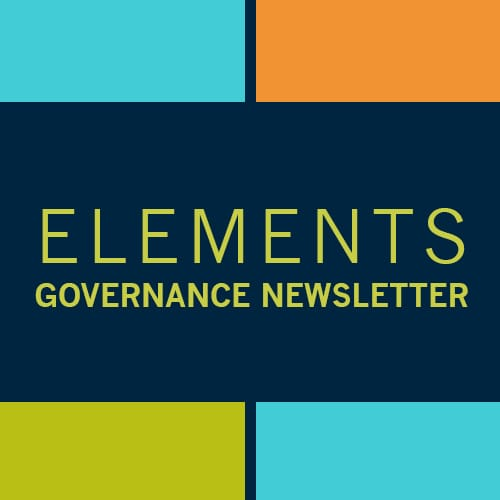 April Elements Governance Newsletter