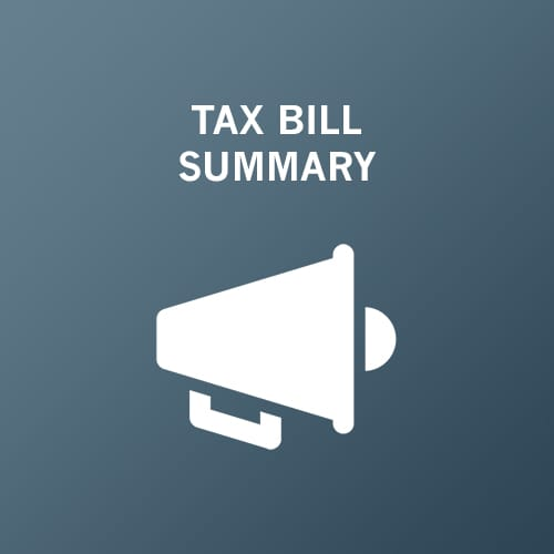 Tax Bill Summary